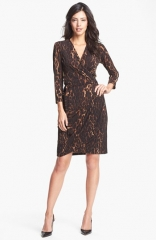 Maggy London Print Jersey Wrap Dress at Nordstrom