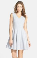 Maia Fleece Jersey Fit andamp Flare Dress at Nordstrom