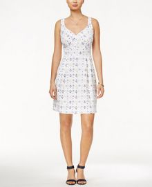 Maison Jules Anchor-Print Fit   Flare Dress  Only at Macy s at Macys