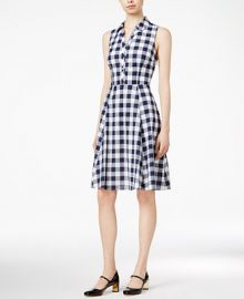 Maison Jules Cotton Gingham Shirtdress  Created for Macy s at Macys