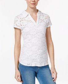 Maison Jules Crochet Lace Polo  Created for Macy s at Macys