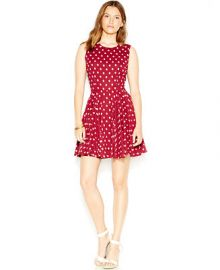 Maison Jules Fit and Flare Polka-Dot Dress at Macys