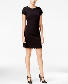 Maison Jules Scallop-Detail Sheath Dress  Only at Macy s at Macys