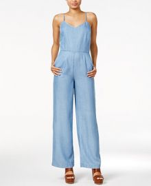 Maison Jules Sleeveless Chambray Jumpsuit  Created for Macy s at Macys