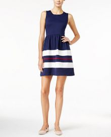 Maison Jules Striped Fit   Flare Dress  Only at Macy s at Macys