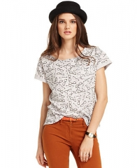 Maison Jules Top Short-Sleeve Glasses-Print Tee - Tops - Women - Macys at Macys