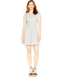 Maison Jules Zip-Back Polka-Dot Dress at Macys
