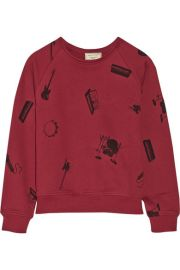 Maison Kitsun  Play It Again cotton-terry sweatshirt at Net A Porter
