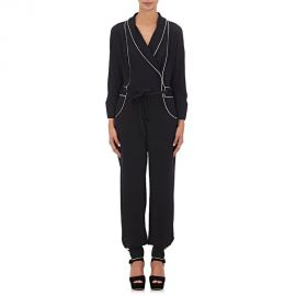 Maison Mayle Floral Jacquard Silk Crepe Jumpsuit at Barneys