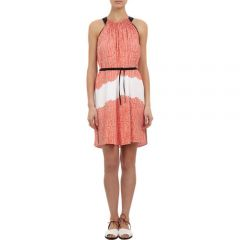 Maiyet Block-Printed Halterneck Dress at Barneys