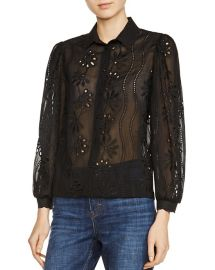 Maje Calek Lace Shirt at Bloomingdales