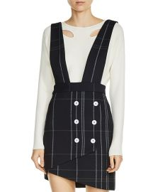 Maje Jola Plaid Skirt with Straps at Bloomingdales