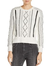 Maje Mila Cable Knit Sweater  at Bloomingdales