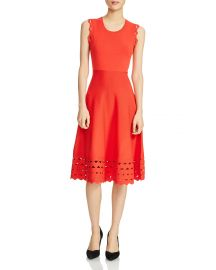 Maje Rumba Perforated Knit Midi Dress at Bloomingdales