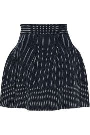 Maje   Josette pleated stretch-knit mini skirt at Net A Porter
