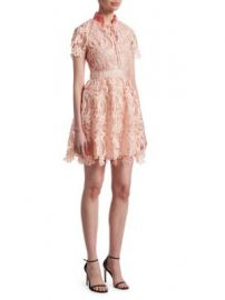 Maje - Regina Lace Fit- -Flare Dress at Saks Fifth Avenue