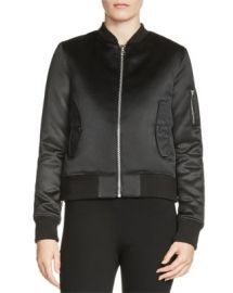 Maje Bart Satin Bomber Jacket at Bloomingdales