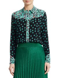 Maje Cimani Printed Shirt at Saks Fifth Avenue