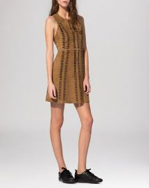 Maje Dress - Cross Perforated Suede at Bloomingdales