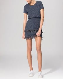 Maje Dress - Smocked Fringe Hem at Bloomingdales