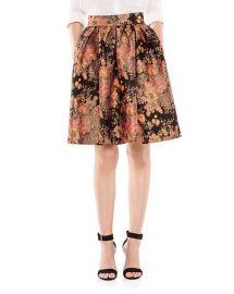 Maje Jaggy Floral Jacquard Flared Skirt at Bloomingdales