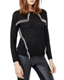 Maje Manhattan Fringed Trim Top at Bloomingdales