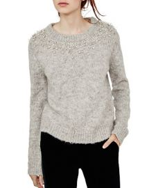 Maje Manor Embellished Sweater at Bloomingdales