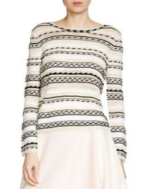 Maje Mauritani Striped Sweater at Bloomingdales
