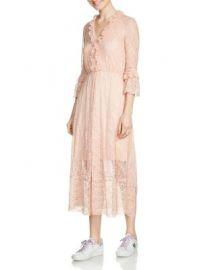 Maje Romancia Lace Midi Dress at Bloomingdales