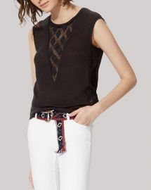 Maje Tee - Tao Lace Inset at Bloomingdales