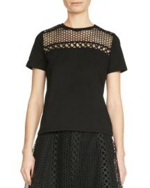 Maje Toby Lace-Inset Top at Bloomingdales