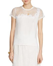 Maje Tradition Lace-Trimmed Tee at Bloomingdales