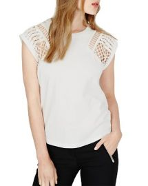 Maje Trio Embroidered Cutout Top at Bloomingdales