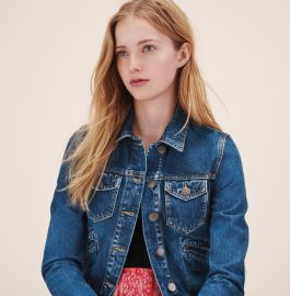 Maje Viva Denim Jacket at Maje