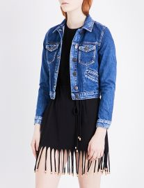 Maje Viva Denim Jacket at Selfridges