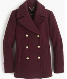 Majesty Peacoat hthr fire at J. Crew