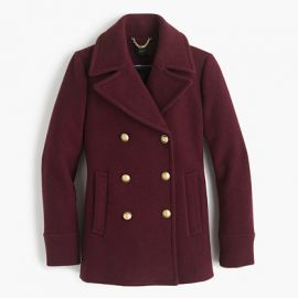 Majesty peacoat in Hthr Fire Red at J. Crew