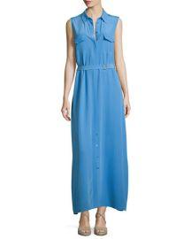 Major Sleeveless Button-Front Maxi Shirtdress at Neiman Marcus