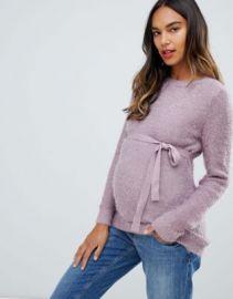 Mamalicious waist tie sweater at asos com at Asos