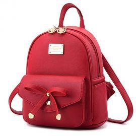 Manka Vesa Women Girl s Fashion Bowknot Cute Leather Backpack Mini Purse Casual Travel School Bag at Amazon