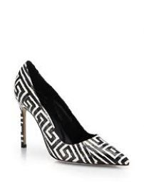 Manolo Blahnik - BB Graphic-Print Snakeskin Pumps at Saks Fifth Avenue