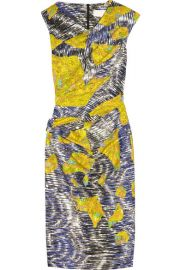 Mar Printed Stretch-Silk Dress by Peter Pilotto at Net A Porter