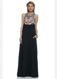 Mara Hoffman Cosmic Fountain Embroidered Maxi Dress in Black at Shopbop