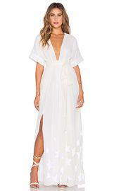 Mara Hoffman Embroidered Slit Maxi Dress in Star Embroidered Chiffon from Revolve com at Revolve
