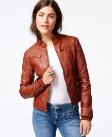 Maralyn Me Faux-Leather Moto Jacket at Macys