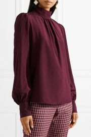 Marc Jacobs Silk crepe de chine blouse at Net A Porter