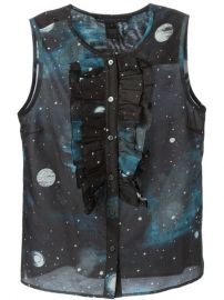 Marc By Marc Jacobs Stargazer Ruffled Bib Sleeveless Shirt  - Luciana at Farfetch