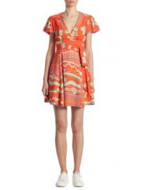 Marc Jacobs - Floral-Print V-Neck Dress at Saks Fifth Avenue