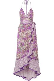 Marc Jacobs   Ruffled printed cotton and silk-blend halterneck dress at Net A Porter
