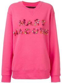 Marc Jacobs Bead Embroidered Logo Sweatshirt - Farfetch at Farfetch